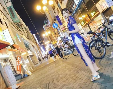 【HKT48】森保まどか×道頓堀×チャイナドレス