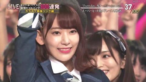 【AKB48G】テレ東音楽祭、エビカツで堂々とセンターを張る宮脇咲良と雲隠れの松井珠理奈