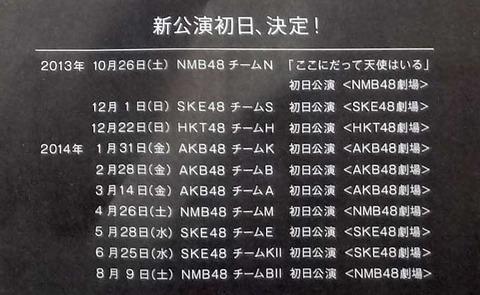【AKB48G】新公演が始まらない限りチームの色は出ない