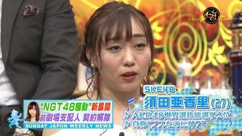 【SKE48】須田亜香里がサンジャポに生登場、NGT48暴行事件について語る