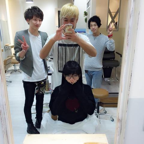 【AKB48G】年末になりメンバーが続々と髪の手入れをしている模様