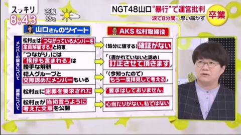 【悲報】NGT48に新たな繋がり発覚!「NGTメンバーとばったり会い話をしてしまった。普通に会話してくれる」