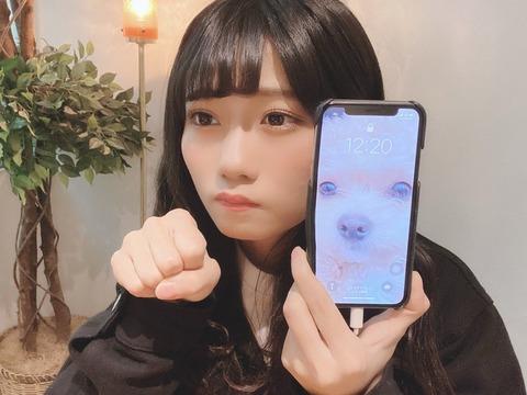 【悲報】NMB48菖蒲まりんのスマホが歪む怪奇現象