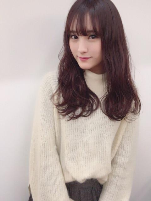 【HKT48】髪色をピンクブラウンにした植木南央が可愛い!!!