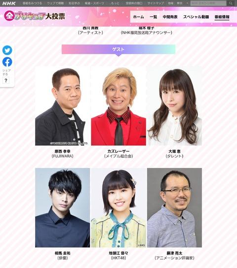【朗報】HKT48地頭江音々ちゃんがNHKプレミアム「発表!全プリキュア大投票」 にゲスト出演決定!