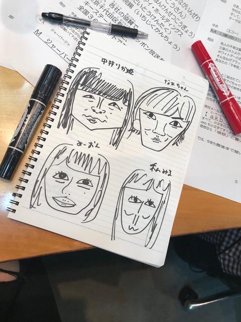 【画像】白間画伯の似顔絵が相変わらず酷いwww【NMB48・白間美瑠】
