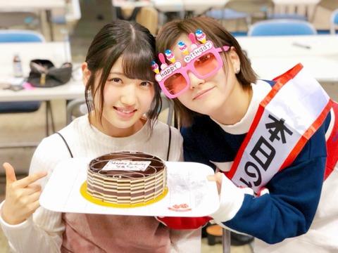 【AKB48】岡田奈々「20歳は村山彩希さんにバックハグしてもらえる年にしたい」