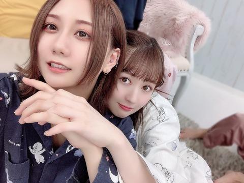 【SKE48】古畑奈和さん、恋人とのお揃いパジャマツーショット写真が流出www