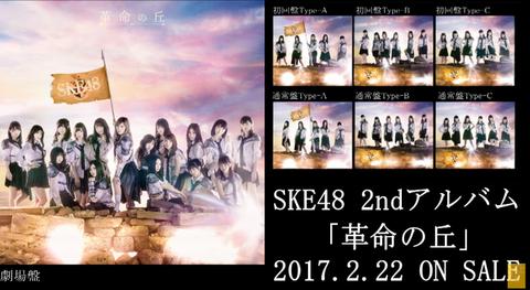 【SKE48】2ndアルバム「革命の丘」4日目売上は18,819枚