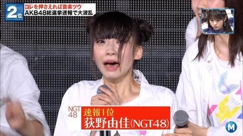 【NGT48】荻野由佳の総選挙最終順位を予想するスレ