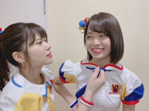 【AKB48】清水麻璃亜、岡部麟、小田えりなの紐パン水着