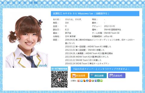 宮澤佐江ってSKE48とSNH48を兼任しているけど、上海では何か活動をしているの?