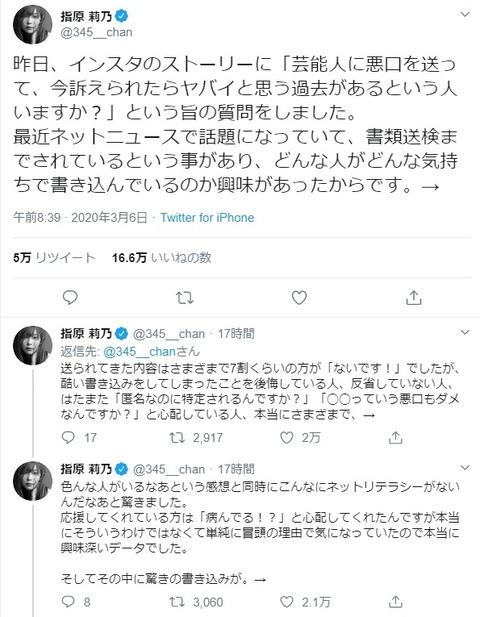 【Twitter】指原莉乃がアンチを弄んだツイート→ファボ12万、リツイート4万、フォロワー数4千以上増加www