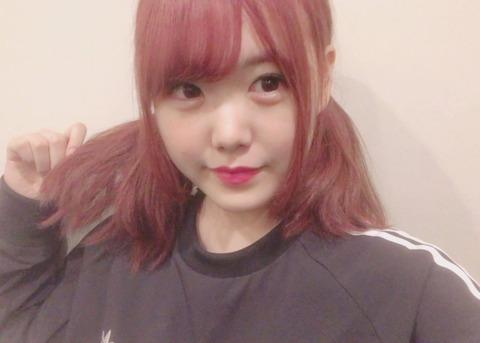 【画像あり】SKE48白雪希明ちゃんが髪の毛をピンク色に染める!