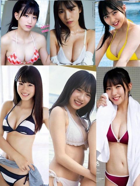 【HKT48】田中美久、上西怜、横野すみれのプライベート水着姿を海で見かけたらどうする?【NMB48】