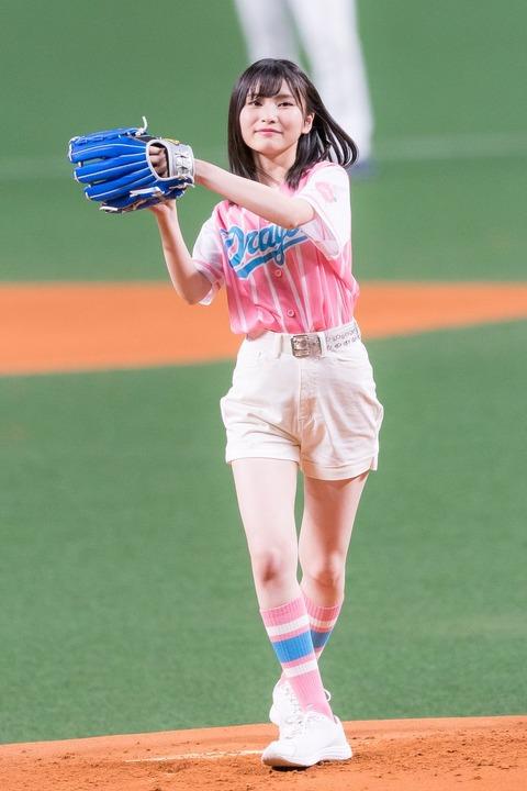 【悲報】せいちゃんの始球式、まともに映らず終了【AKB48・福岡聖菜】