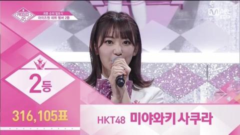 【PRODUCE48】AKB48Gからは宮脇咲良・矢吹奈子・本田仁美がデビュー決定!!