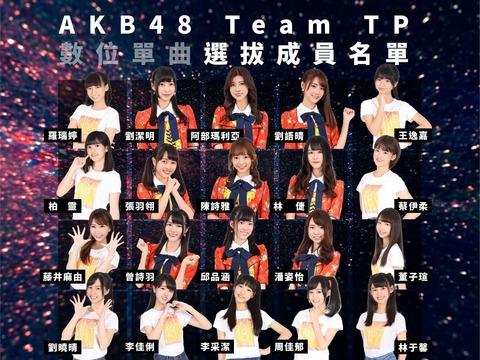 【AKB48】阿部マリア所属のTeam TP、シングル選抜が発表される