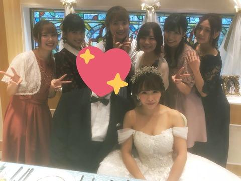 【SKE48】松村香織が結婚!!!ウェディングドレス姿を披露