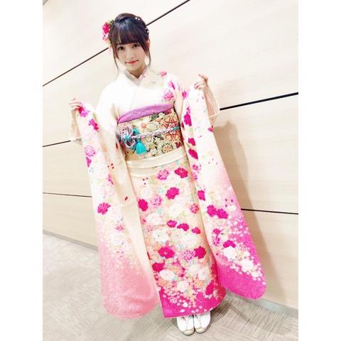 【HKT48】成人式の栗原紗英ちゃんが美しい!!!