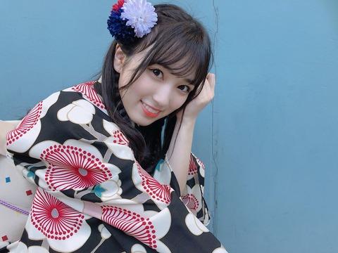 【朗報】HKT48矢吹奈子のTwitter自撮り浴衣画像ファボ数、選抜でダントツトップ!