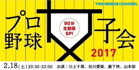【朗報】YNNでNMB48プロ野球女子会2017放送決定!!!