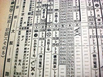 1973年1月時刻表東海道山陽線