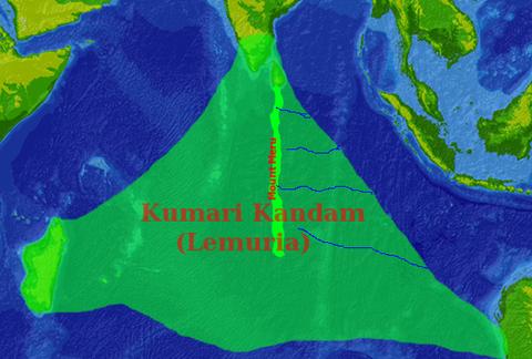 Kumari_Kandam_map