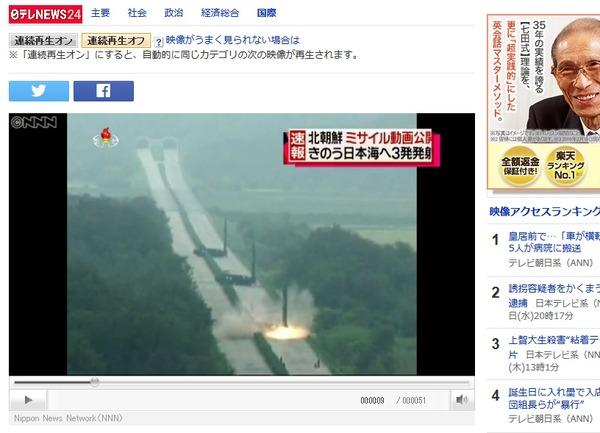 北朝鮮ミサイル発射場所