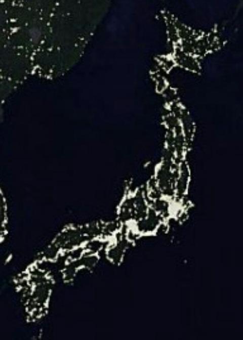 夜の日本列島