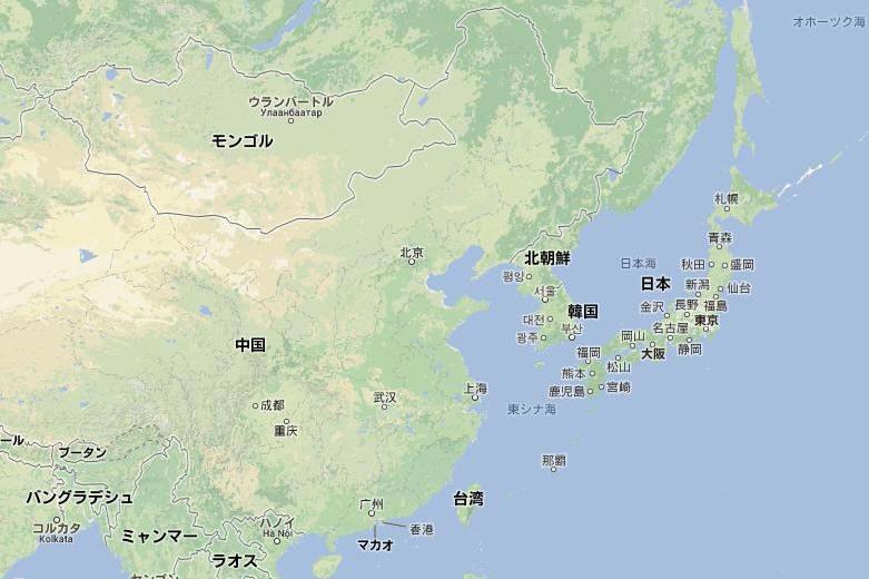モンゴル地図(日本入り)