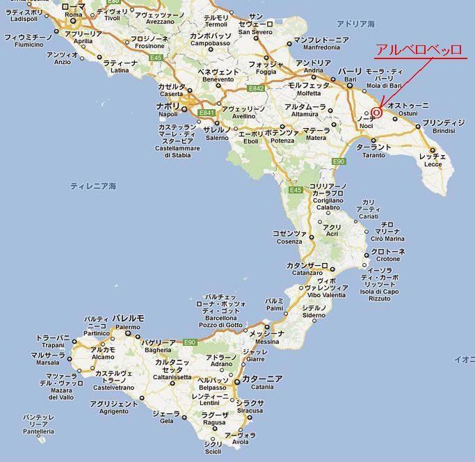 図1 南イタリアの地図