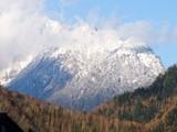 穂高連峰冬景