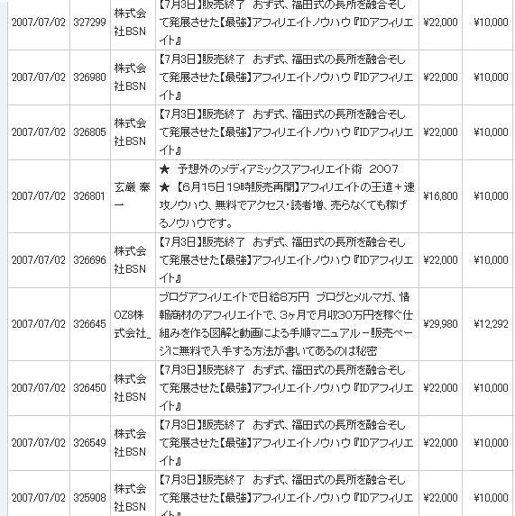 日給9万円達成証拠画像07.7.2