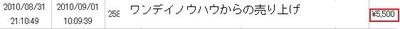 ワンデイ売り上げ9.1