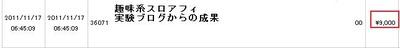 1万134円の成果!趣味の実験ブログ検証