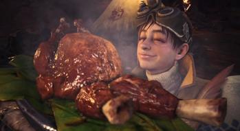 受付嬢 肉