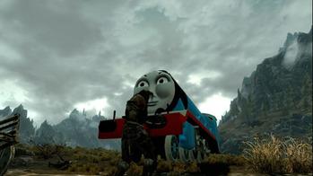 Skyrim機関車トーマスMOD