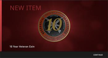 CSGO 10年コイン