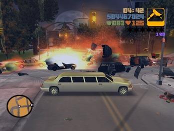 GTA3車爆発