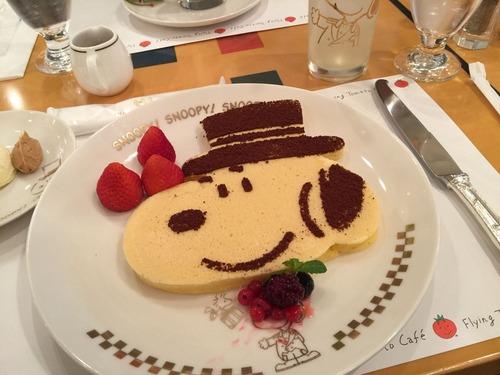 スヌーピーのパンケーキ
