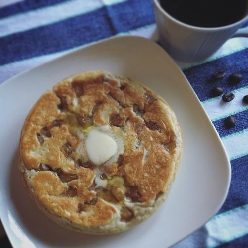 アップルシナモンホットケーキ