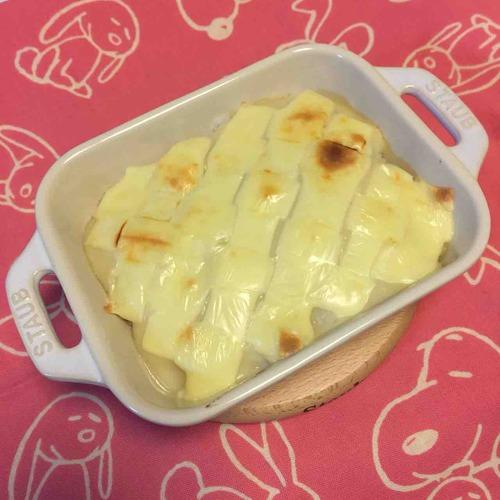 カリフラワーの豆乳ポタージュドリア