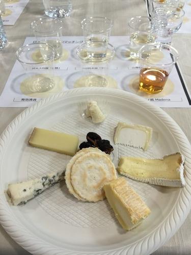 日本酒とチーズ