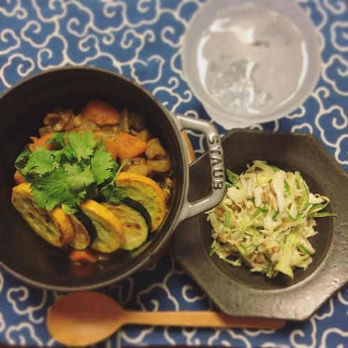 キャベツの納豆サラダ