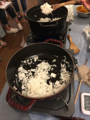 親子煮のたまねぎ