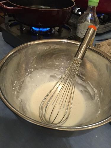 どら焼きの皮作り米粉