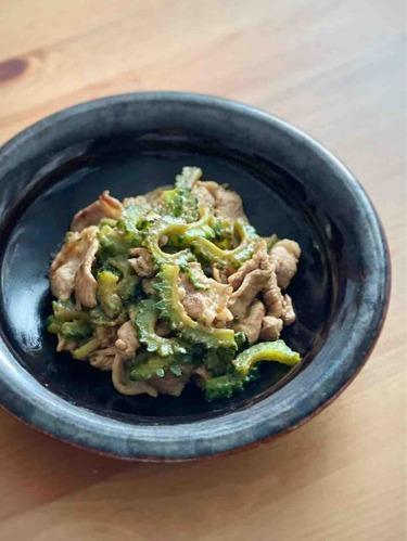豚とゴーヤの味噌炒め
