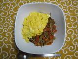 根菜ふわ卵丼1