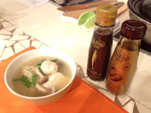 もらった調味料とスープ